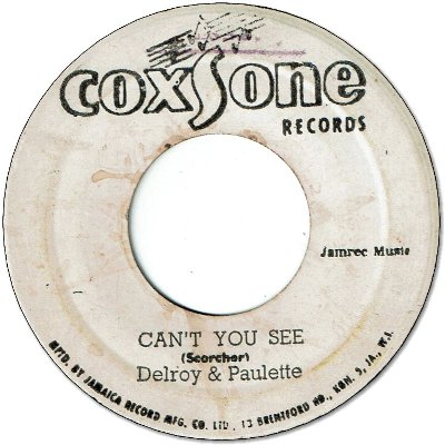 CAN'T YOU SEE (VG+) / YOU BEND MY LOVE (VG)