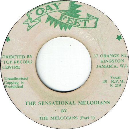 THE SENSATIONAL MELODIANS (VG) / Pt.2 (VG)