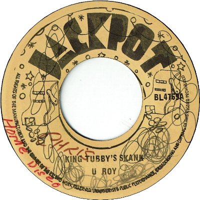 KING TUBBY'S SKANK (VG/WOL) / KING TUBBY'S FICIALLY (VG+)