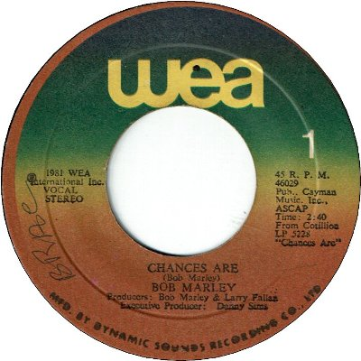 CHANCES ARE (VG) / GONNA GET YOU (VG+)