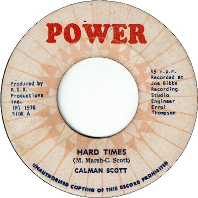 HARD TIMES (VG+) / FIGHT IT (VG)