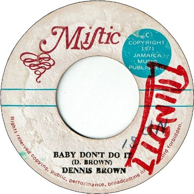 BABY DON'T DO IT (VG/WOL) / LIVE IT UP (VG/WOL)