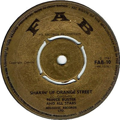 SHAKING UP ORANGE ST (VG) / BLACK GIRL (VG)
