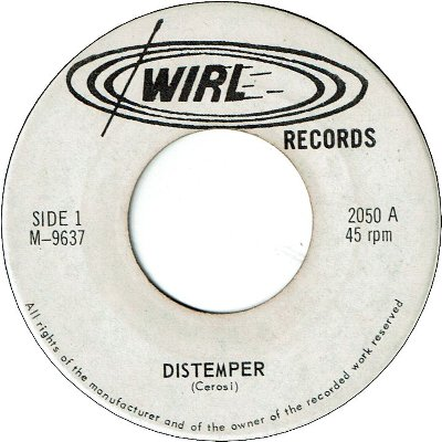 DISTEMPER(as PUP'N TEMPER) (VG+) / SATAN STATION (VG+)