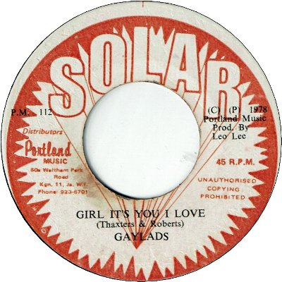 GIRL IT'S YOU I LOVE (VG+) / VERSION (VG+)
