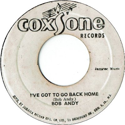 I'VE GOT TO GO BACK HOME (VG-) / LAY IT ON (G)