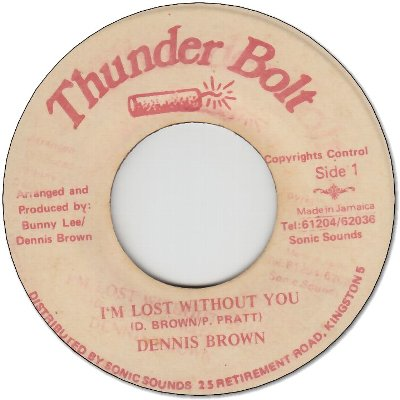 I'M LOST WITHOUT YOU (VG+)