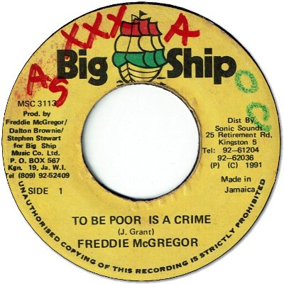 TO BE POOR IS A CRIME (VG to VG+/WOL)