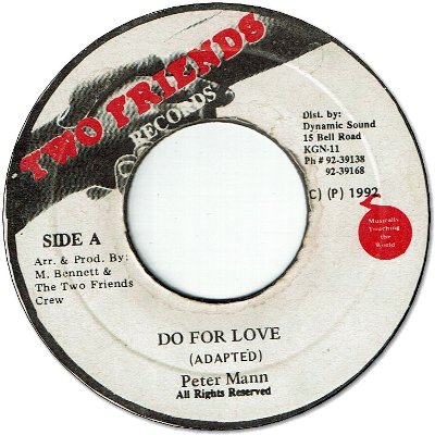 DO FOR LOVE (VG+)