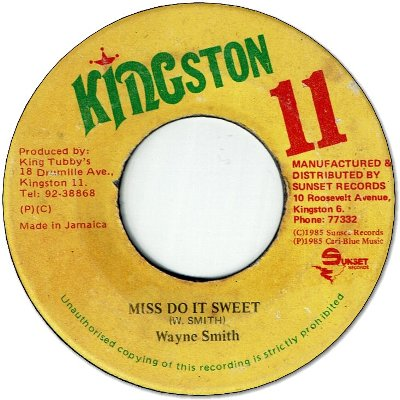 MISS DO IT SWEET (VG+) / VERSION (VG/Sticker)
