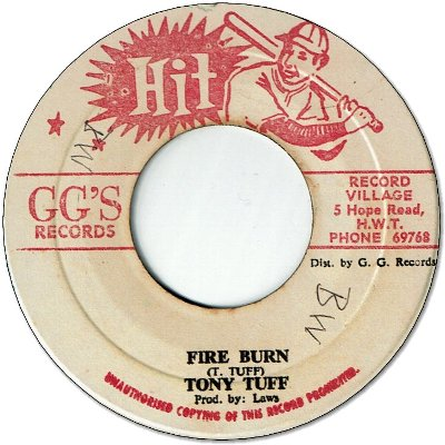 FIRE BURN (VG+) / VERSION (VG+)