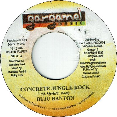 CONCRETE JUNGLE ROCK (VG+)
