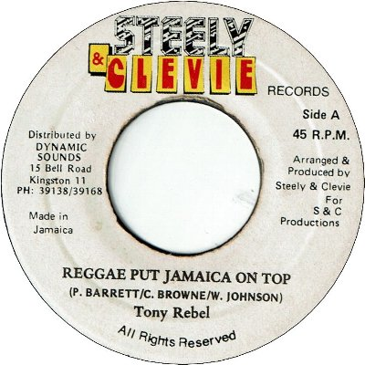 REGGAE PUT JAMAICA ON TOP (VG)