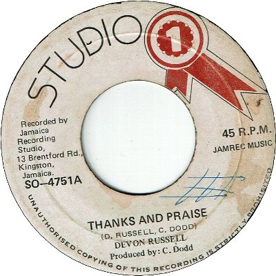 THANKS AND PRAISE (VG) / VERSION (VG-)