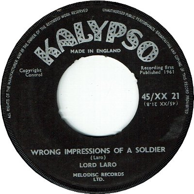 JAMAICAN REFRENDUM CALYPSO (VG+) / WRONG IMPRESSIONS OF A SOLDIER (VG+)