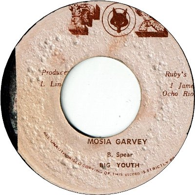 MOSIA GARVEY (VG+) / VERSION (VG)