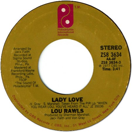 LADY LOVE (VG+) / NOT THE STAYING KIND