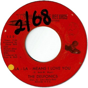 LA LA MEANS I LOVE YOU (VG+/WOL) / CAN'T GET OVER LOSING YOU (VG)