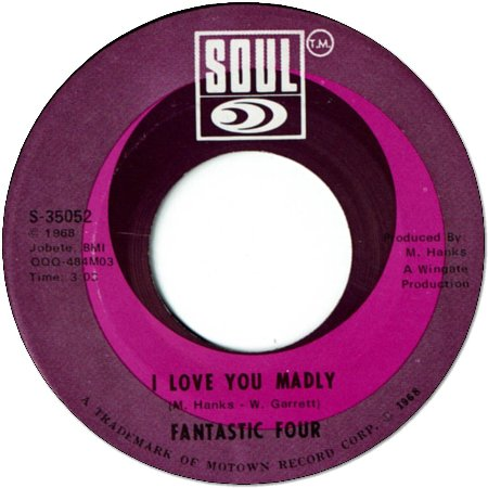 I LOVE YOU MADLY (VG+) / I LOVE YOU MADLY INSTRUMENTAL (VG+)