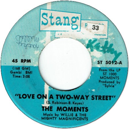 LOVE ON A TWO WAY STREET (VG) / I WON'T DO ANYTHING
