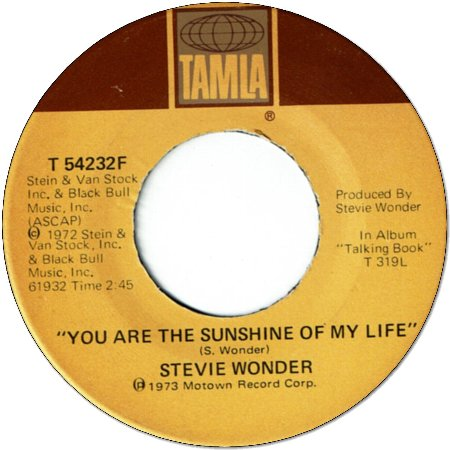 YOU ARE THE SUNSHINE OF MY LIFE(VG+) / TUESDAY HEARTBREAK