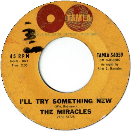I'LL TRY SOMETHING NEW (VG/WOL) / YOU NEVER MISS A GOOD THING (VG)