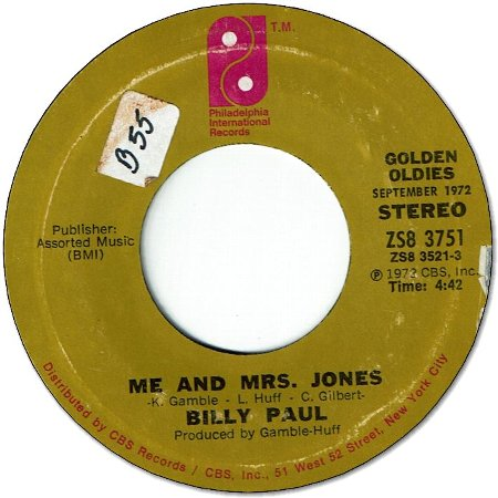 ME & MRS JONES(VG- to VG+) / YOUR SONG