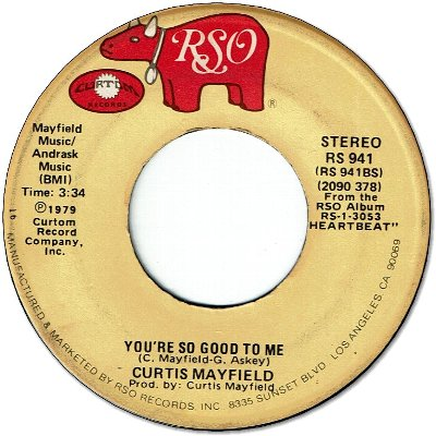 YOU'RE SO GOOD TO ME (VG- to VG) / BETWEEN YOU BABY AND ME (VG- to VG)