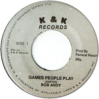 GAMES PEOPLE PLAY (VG) / TALKING LOVE (VG+)