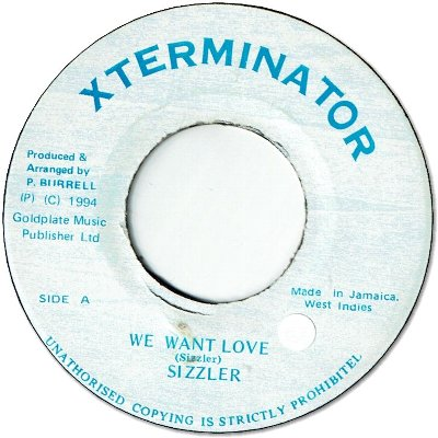 WE WANT LOVE (VG+/seal)