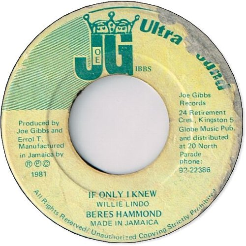 IF ONLY I KNEW (VG〜VG+)