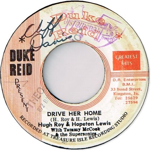 DRIVE HER HOME (VG/WOL) / STAMPEDE (VG〜VG-)