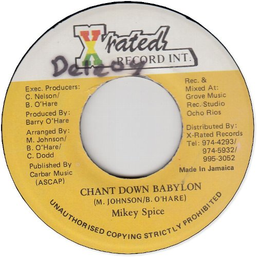 CHANT DOWN BABYLON (VG+/WOL)