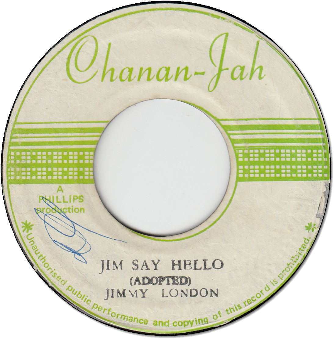 JIM SAY HELLO (VG+/WOL) / PEGGY MY LOVE (VG+)