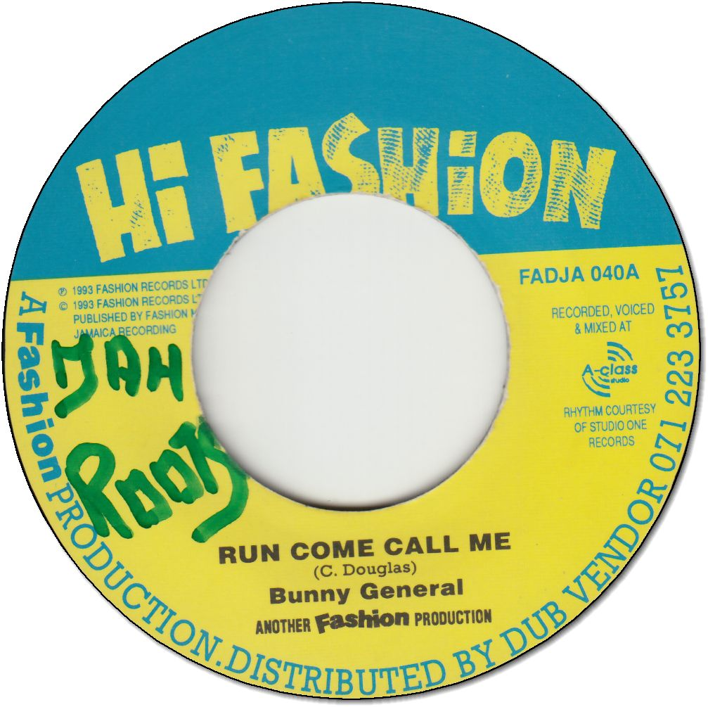 RUN COME CALL ME (VG+/WOL) / HIGHER FASHION VERSION
