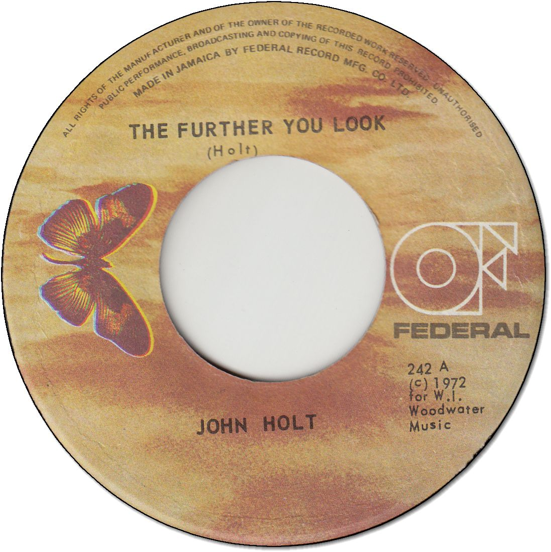 THE FURTHER YOU LOOK (VG+) / I WANNA DANCE