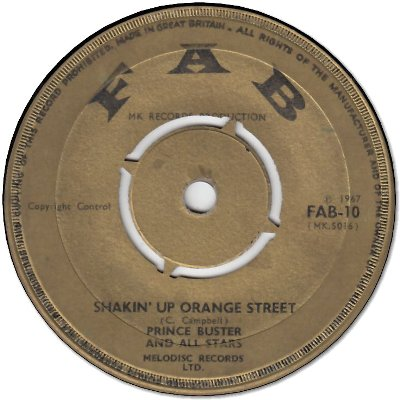 SHAKIN'UP ORANGE STREET(VG- to VG) / BLACK GIRL (VG)