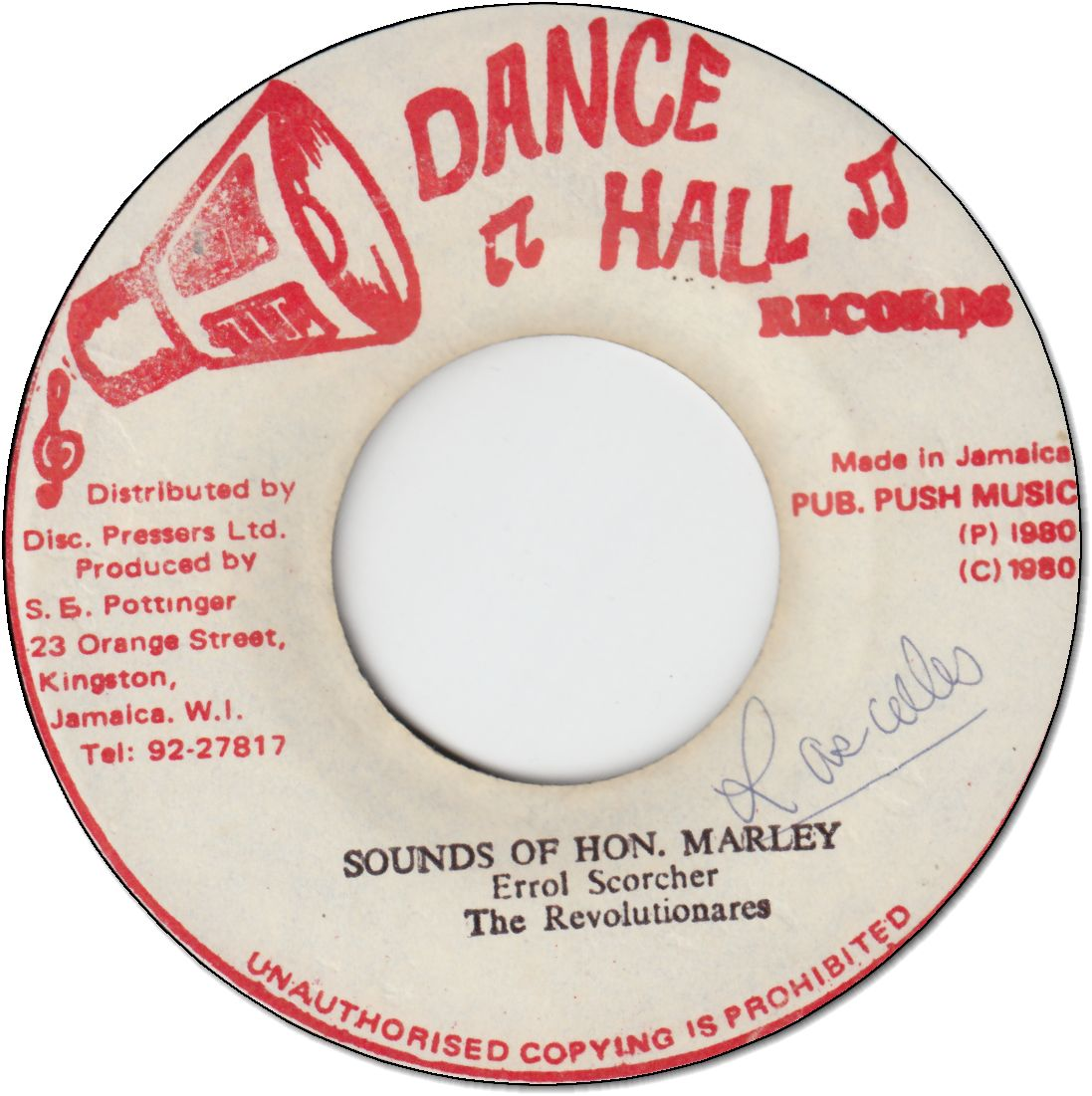 SOUNDS OF HON.MARLEY (VG+)