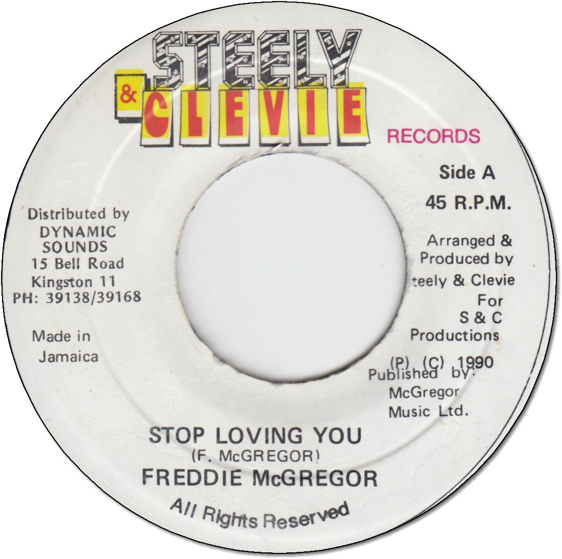 STOP LOVING YOU (VG+)