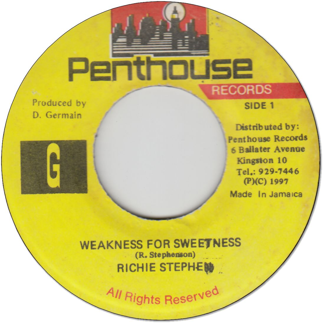 WEAKNESS FOR SWEETNESS (VG+)
