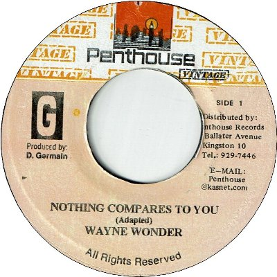 NOTHING COMPARES TO YOU (VG+) / VERSION