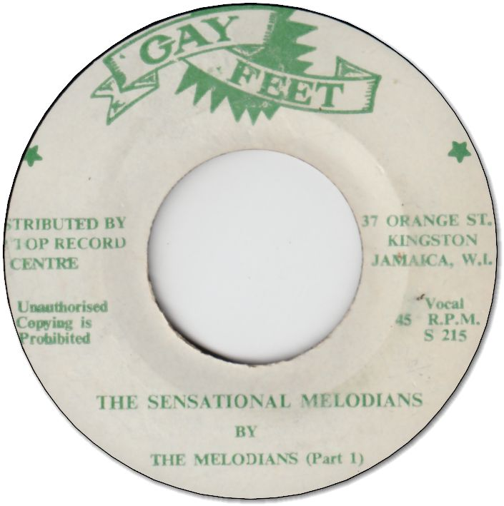 THE SENSATIONAL MELODIANS (VG to VG+) / Part.2 (VG)