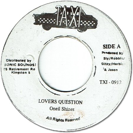 LOVERS QUESTION (VG+)