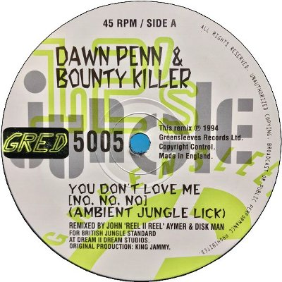 YOU DON'T LOVE ME(No No No) 'Jungle Mix'