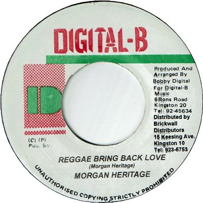 REGGAE BRING BACK LOVE (VG)